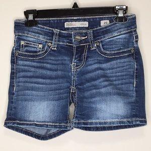 BKE Stella Denim Shorts Size 23 Dark Wash